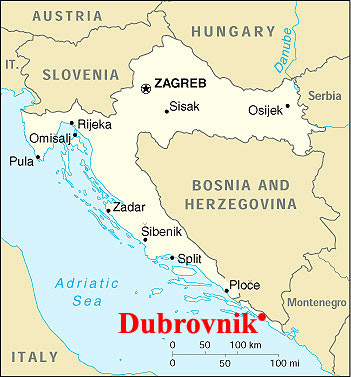 Dubrovnik bb Location Croatia map
